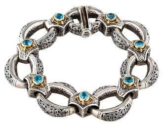 Konstantino Topaz Reversible Link Bracelet