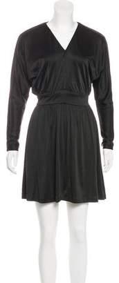 Halston Long Sleeve Mini Dress