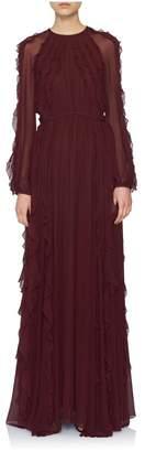 Giambattista Valli Silk Ruffle Gown
