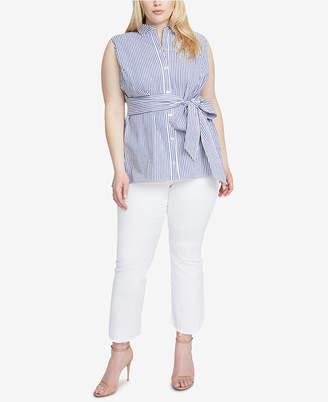 Rachel Roy Trendy Plus Size Cotton Esta Striped Tunic