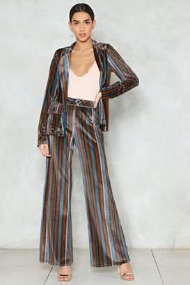 Nasty Gal It's a Stripe of Magic Velvet Pants