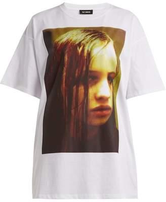 Raf Simons - Christiane F. Photographic Print T Shirt - Womens - White Print
