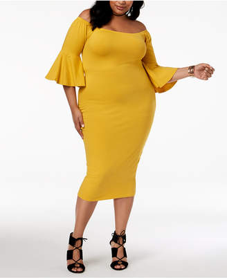Rebdolls Plus Size Bodycon Midi Dress