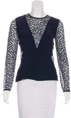 Jenni Kayne Lace-Accented Long Sleeve Top