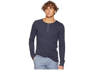 Scotch & Soda Garment-Dyed Long Sleeve Grandad T-Shirt