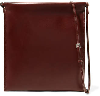 The Row Medicine Pouch Large Leather Shoulder Bag - Chocolate