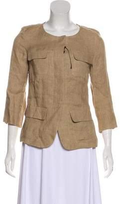 Max Mara Weekend Linen Collarless Jacket w/ Tags
