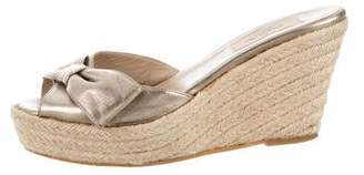 Valentino Bow-Accented Espadrille Sandals