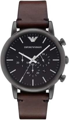 Emporio Armani Gunmetal Chronograph Stainless Steel Watch