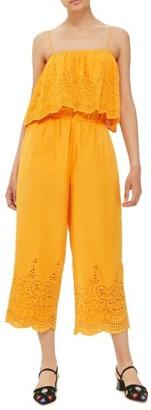 Women's Topshop Eyelet Popover Jumpsuit $75 thestylecure.com