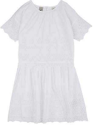Scotch R'Belle KIDS' EMBROIDERED COTTON LAYERED-LOOK DRESS