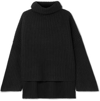 Joseph Ribbed Wool Turtleneck Sweater - Black