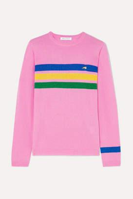 Bella Freud Daytona Sparkle Metallic Striped Cashmere-blend Sweater - Pink