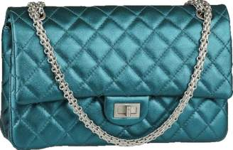 Chanel Reissue 2.55 Classic Double Flap Quilted Metallic 226 Turquoise