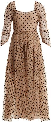 Ethereal polka-dot tulle dress