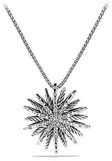 David Yurman Women's Starburst Medium Pendant with Diamonds on Chain