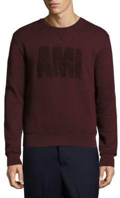 AMI Long Sleeve Cotton Sweatshirt