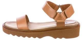 Aquatalia Leather Ankle-Strap Sandals