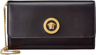 Versace Medusa Leather Wallet On Chain