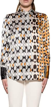 Bagutta White/yellow Laras Silk Shirt