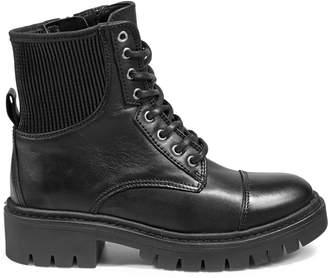 Aldo Adriama Lace-Up Leather Lug Boots