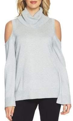Chaus Cold-Shoulder Cotton Sweater