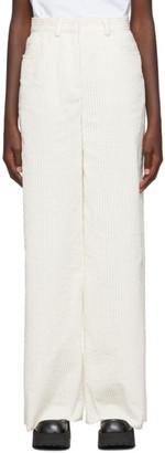 M Missoni White Corduroy Trousers