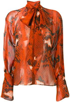 Petar Petrov Bea snake-print shirt