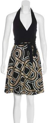 Diane von Furstenberg Geometric Patterned Wrap Mini Dress