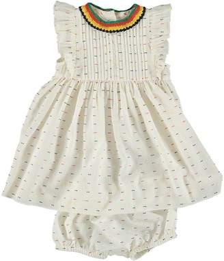 Stella McCartney Infant Apricot Crochet Dress + Bloomers
