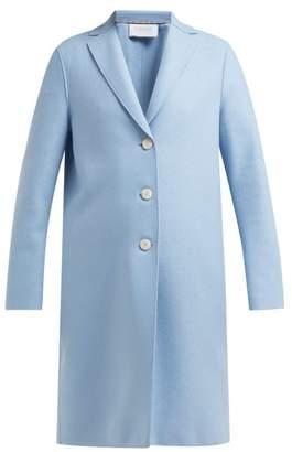 Harris Wharf London Pressed Wool Overcoat - Womens - Light Blue