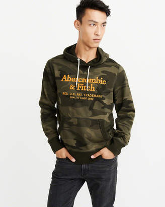 Abercrombie & Fitch Heavyweight Embroidered Logo Hoodie