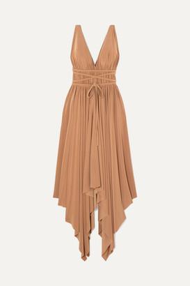 Norma Kamali Goddess Asymmetric Stretch-jersey Dress - Tan