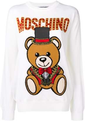 Moschino Teddy Circus intarsia jumper