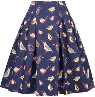Paul Jones®Dress Grace Karin Vintage Skirts Women A Line Flare Skirt Bird Print