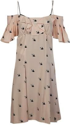 Alexander McQueen Mcq Swallow Print Dress