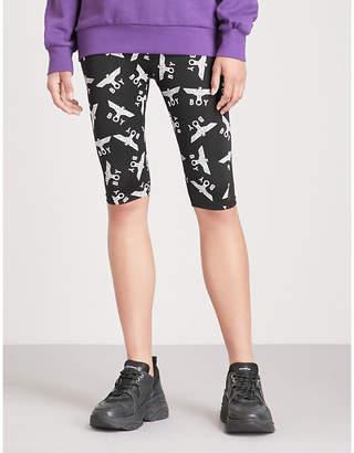 Boy London Logo-print stretch cycling shorts