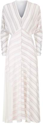 Victoria Beckham Asymmetric Striped Dress