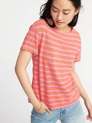 1a88c2b2052e92 at Old Navy · Old Navy Relaxed Mariner-Stripe Thick-Knit Tee for Women