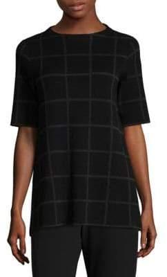 Eileen Fisher Plaid Linen-Blend Tunic