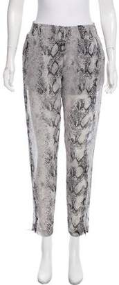 Enza Costa Skinny Animal Print Pants
