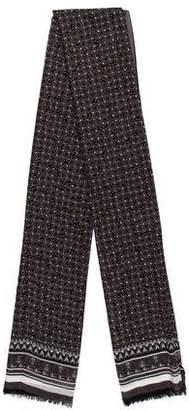 Fendi Patterned Wool Scarf