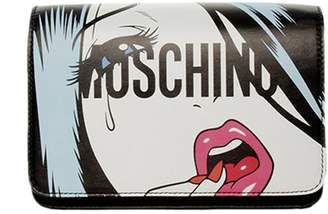Moschino COUTURE Crossbody Bags Bag Capsule Moschinoeyes Collection In Genuine Leather With Woman Eyes Print