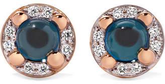 Pomellato M'ama Non M'ama 18-karat Rose Gold, Topaz And Diamond Earrings