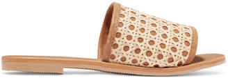 ST. AGNI - Henni Leather And Rattan Slides - IT42