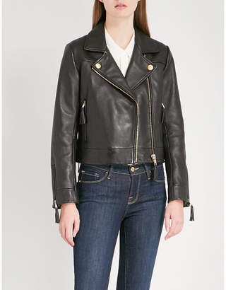 Claudie Pierlot Castel leather biker jacket