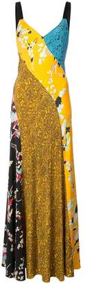 Diane von Furstenberg multi pattern dress