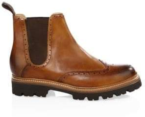 Grenson Men's Arlo Wingcap Brogue Chelsea boots - Tan - Size 7 UK (8 US)