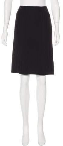 Armani Collezioni Pinstripe Knee-Length Skirt