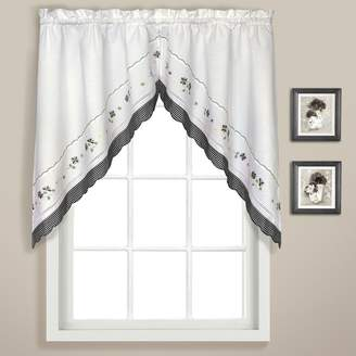 Co United Curtain Gingham Swag Curtains - 60'' x 38''
